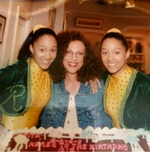 "EP Irene Dreayer on set with Tia and Tamera Mowry, ""Sister Sister\"""