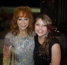 Caroline Kole with Reba... read my blog on how I made that happen!