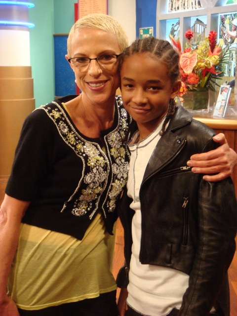 Irene with Jaden Smith, special guest star on Suite Life