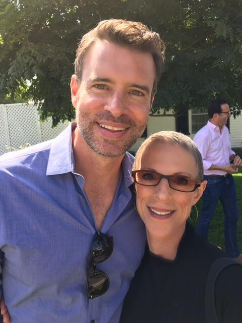 Garden parties and favorite actors; So fun to run into Scott Foley