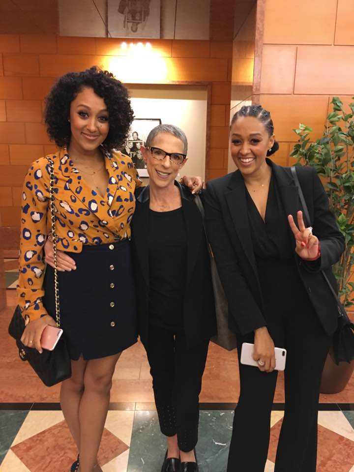A great network meeting with Tia and Tamera Mowry